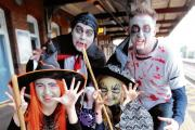 Ghosts and ghouls on spooky train ride